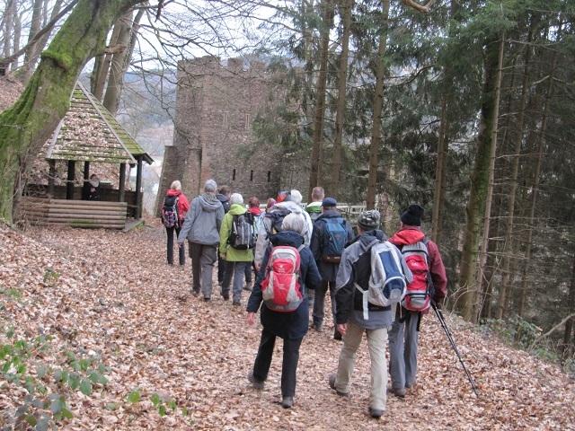 Vers le Château de Schirmeck