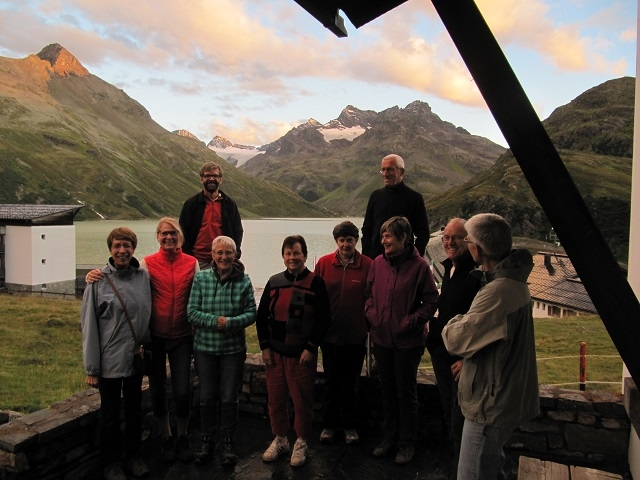 Chapelle Silvretta-Bielerhöhe Vue sur Silvretta See
