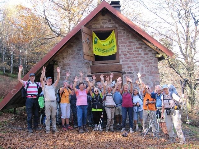 Le groupe au refuge du Schneeberg