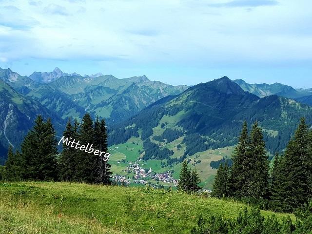Sentier vers Kuhgehren Alpe - Mittelberg