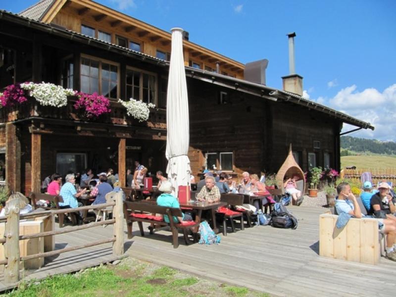 Déjeuner à la Ritsch Schwaige Hütte