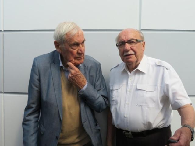 L'ancien Ministre Daniel Hoeffel et l'ancien Maire Joseph Ostermann