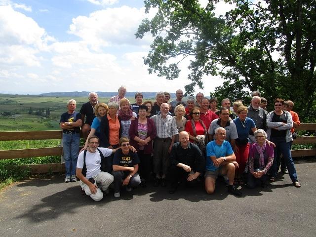 Photo de groupe avant les au revoir