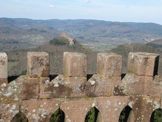 Sommet de la tour du Rehberg Vue sur Triefels