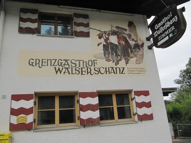 Grenzgasthof - Frontière AllemagneAutriche