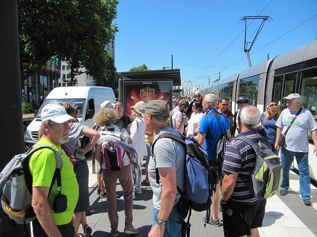 Arrivée en tram station Bahnfof à Kehl Allemagne