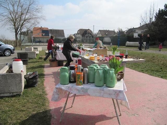 Accueil pause midi à Traenheim