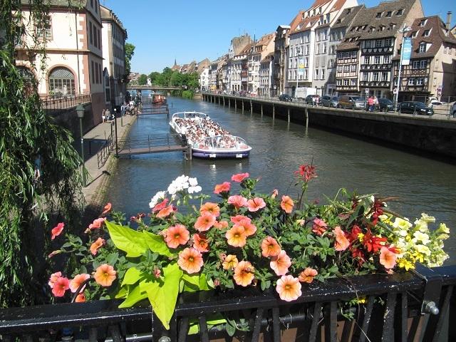 Strasbourg - L'Ill vue depuis le Pont du Corbeau