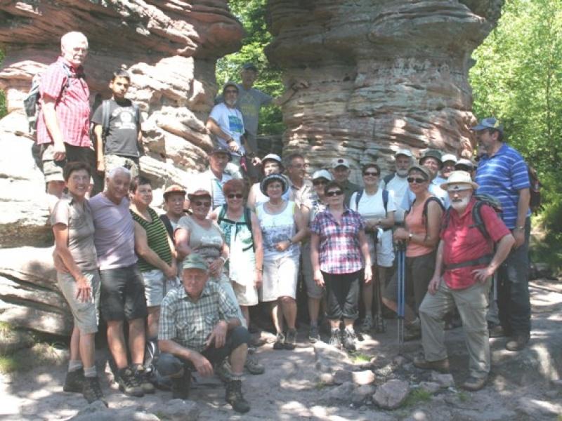 Groupe à la Porte de pierre