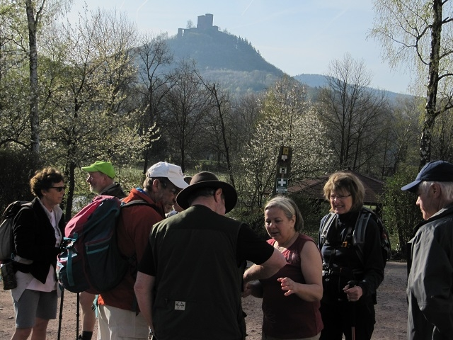 Départ du Turnerjugenheim vers le château Triefels