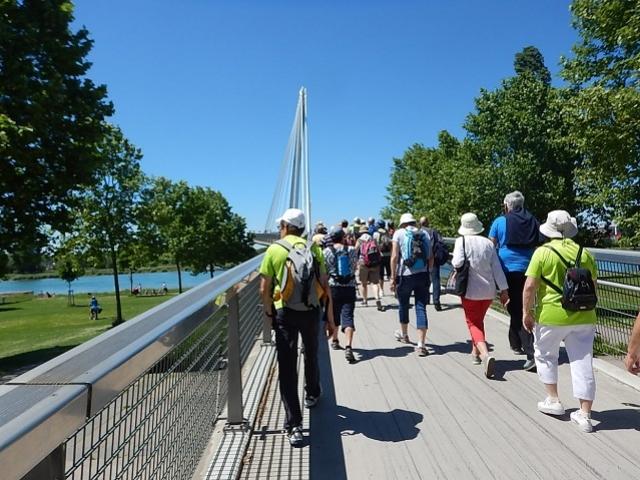 Sur le Pont Mimram (Allemagne - France)