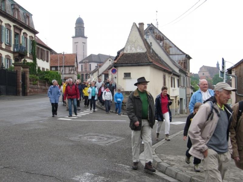 Marche par la ville de Wasselonne